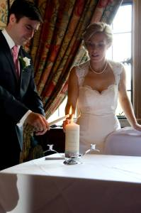 Jacqui and Brian Unity Candle